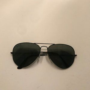 Polarized black metal Ray-Ban sunglasses